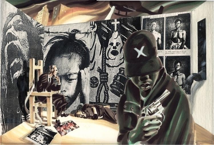 Abolishionist mural maquette  - she-d | ello