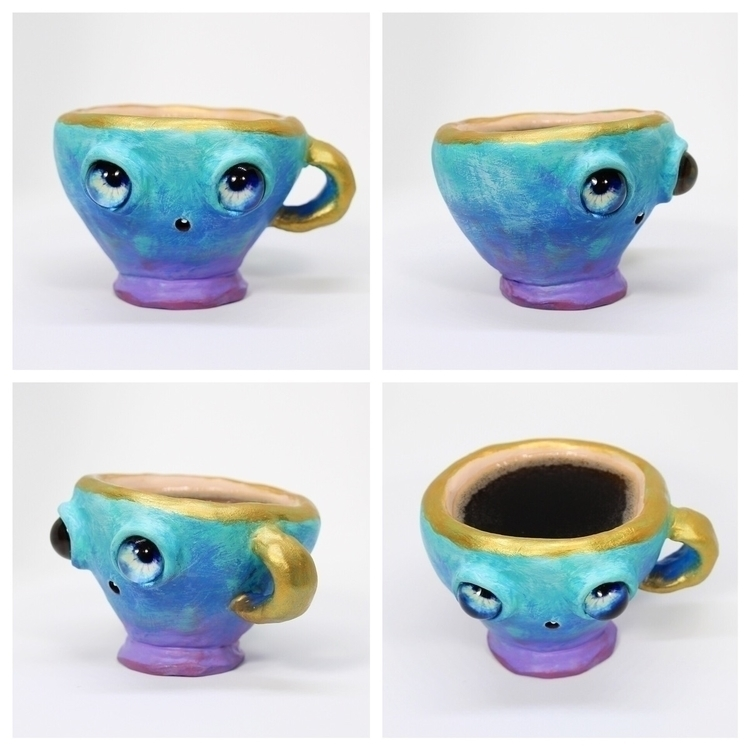 cup coffee morning? Bean carefu - jackieharderart | ello