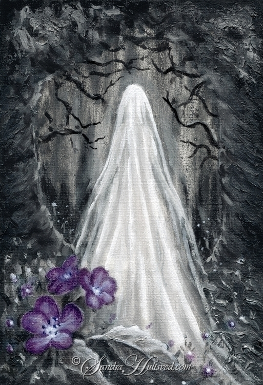 Ghost garden Oil painting, 12x1 - sandrahultsved | ello