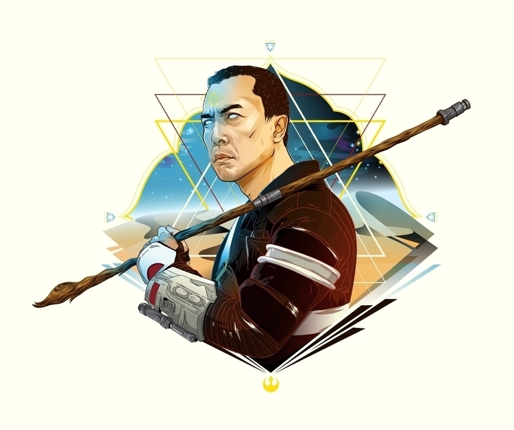 Chirrut Star Wars Celebration 2 - cryssy | ello