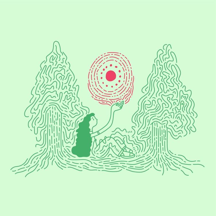 Trees Knowledge - illustration, illustrator - heybop | ello