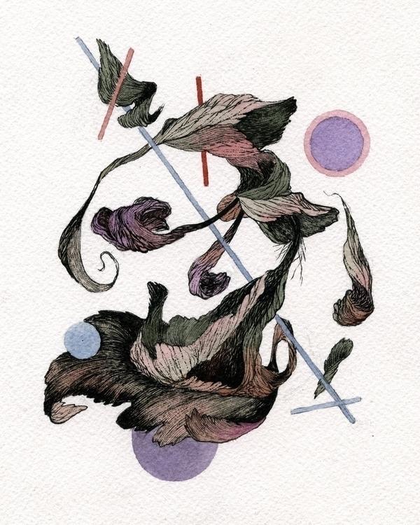 Flower IV Ink watercolor paper  - jacobvanloon | ello