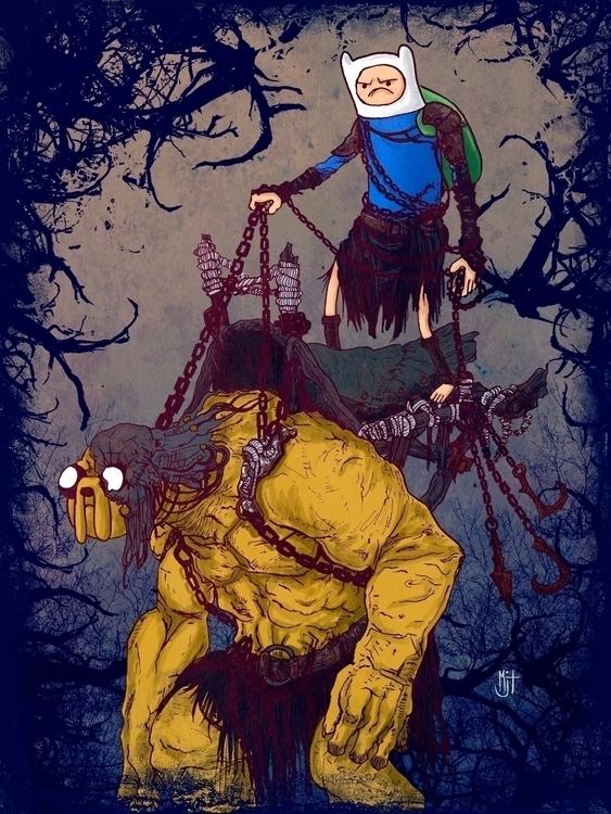 Adventure Time + Dark Souls II  - mjtillustration | ello