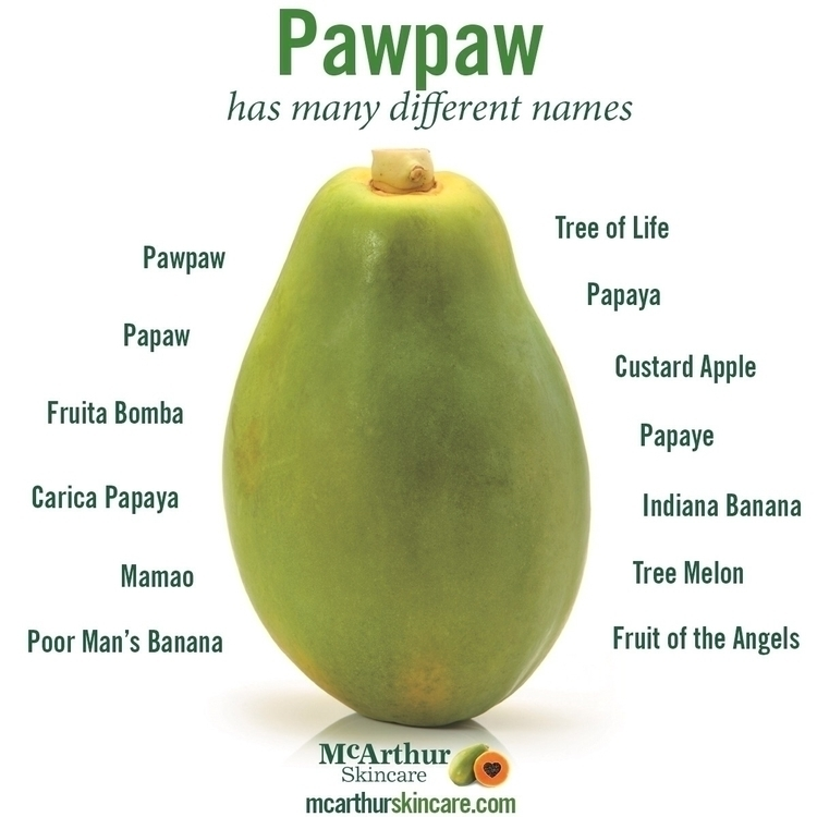 Pawpaw names references world.  - mcarthurskincare | ello