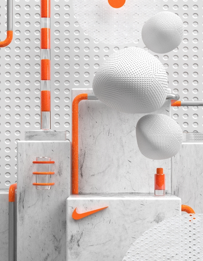 c4d, vray, nikelab, digital, illustration - alexandros | ello