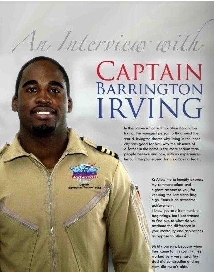 Captain Barrington Irving young - kotchmagazine | ello