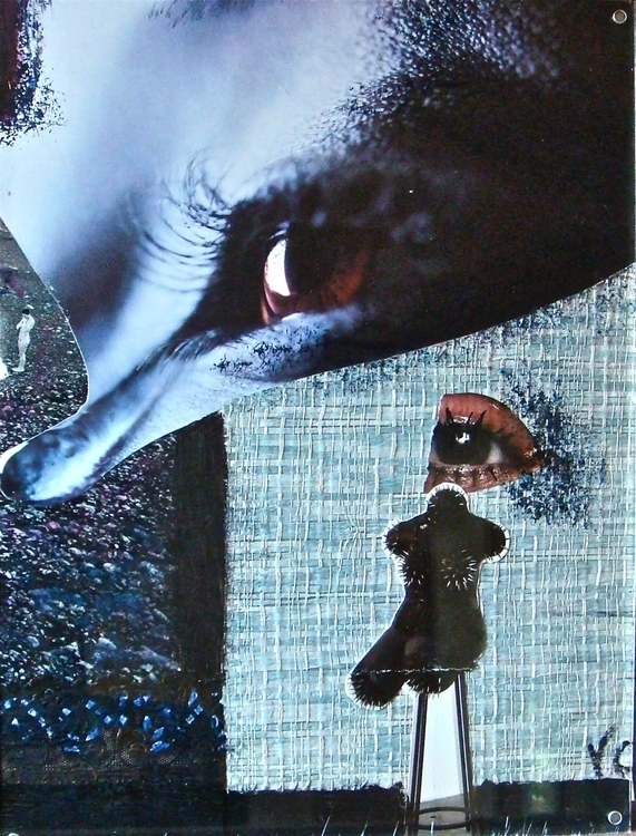 Sadness Mixed media collage Val - vcoloiera | ello