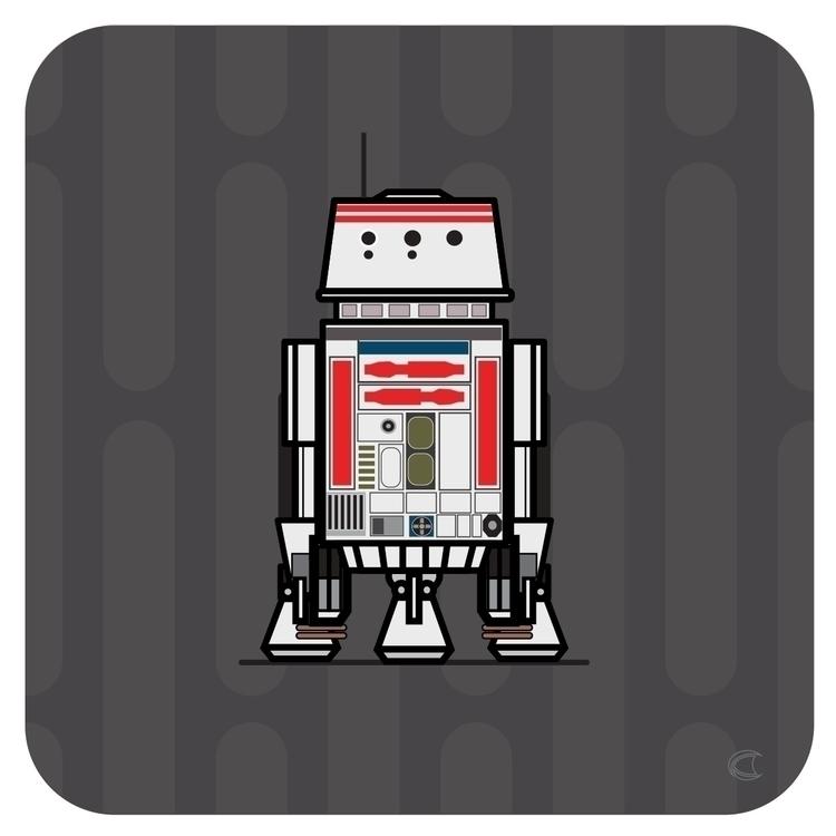 droids, r2, r5, r6, r2d2, r2kt - cliff-c-black | ello
