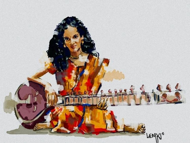 Anoushka Shankar digital portra - lemkiteo | ello