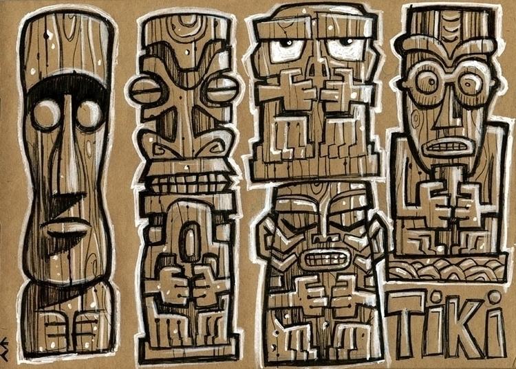 Tiki Gods - tiki, polynesian - eddycrosby | ello