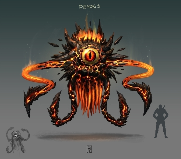 Demon - 3, gameart, conceptart, demon - boris_rogozin | ello