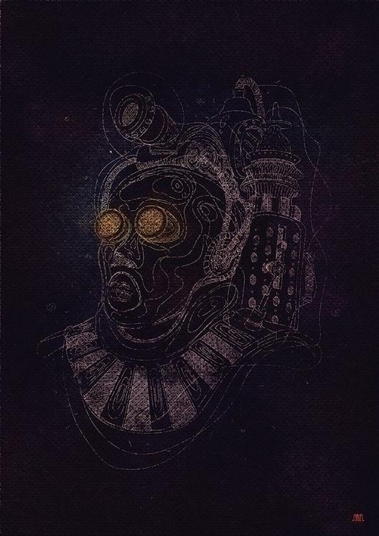 BEHANCE - digitalart, lineart, steampunk - samuelarmas3 | ello