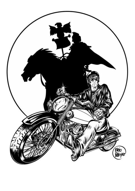 Shadow biker - drawing, conceptart - fabioroveyaz | ello
