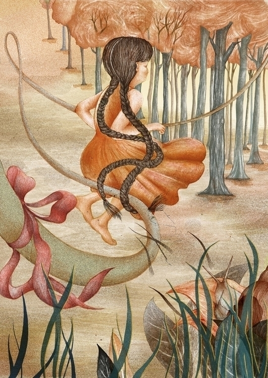 Gift - #illustration, #skipping - paojulin | ello