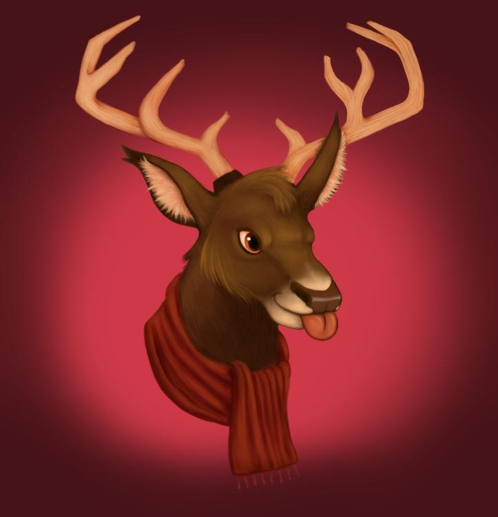 deer, animals, digitalpainting - alexjohnston | ello