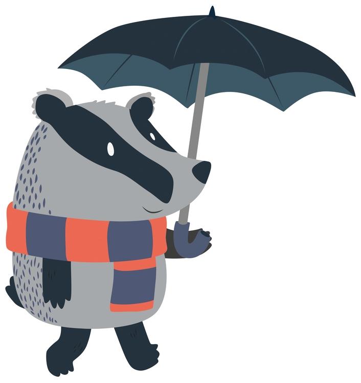 Badger Umbrella - badger, umbrella - clairestamper | ello