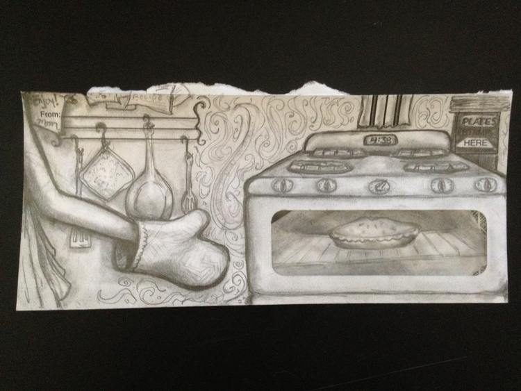 Baked Envelope - pencil, sketch - catsnodgrass | ello