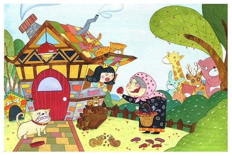 snow white - illustration, children'sillustration - eun-1516 | ello