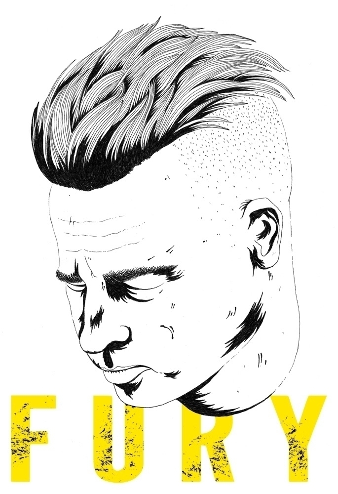 Hand drawn illustration - Fury, art - chris_arrowsmith | ello