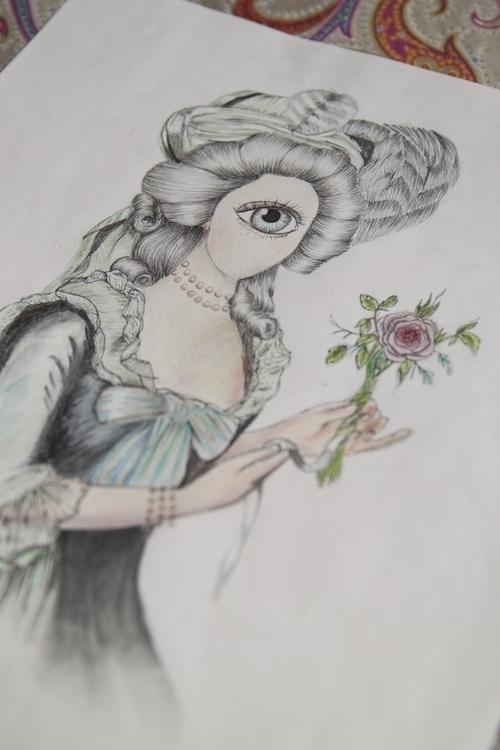 Marie-Antoniette - pencil, pencildrawing - leydaluz-1134 | ello
