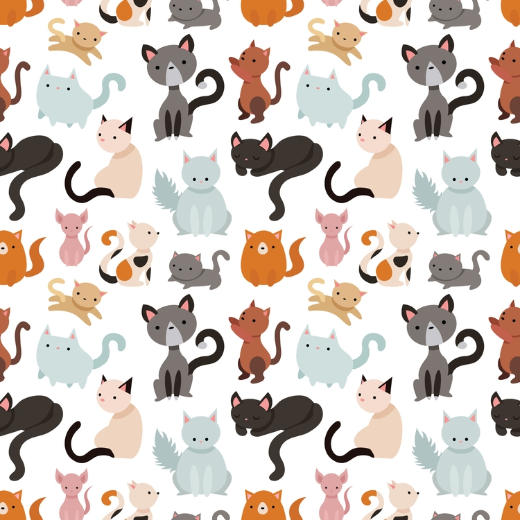 Cat Kitten Meow pattern - cats, cat - acberdec | ello