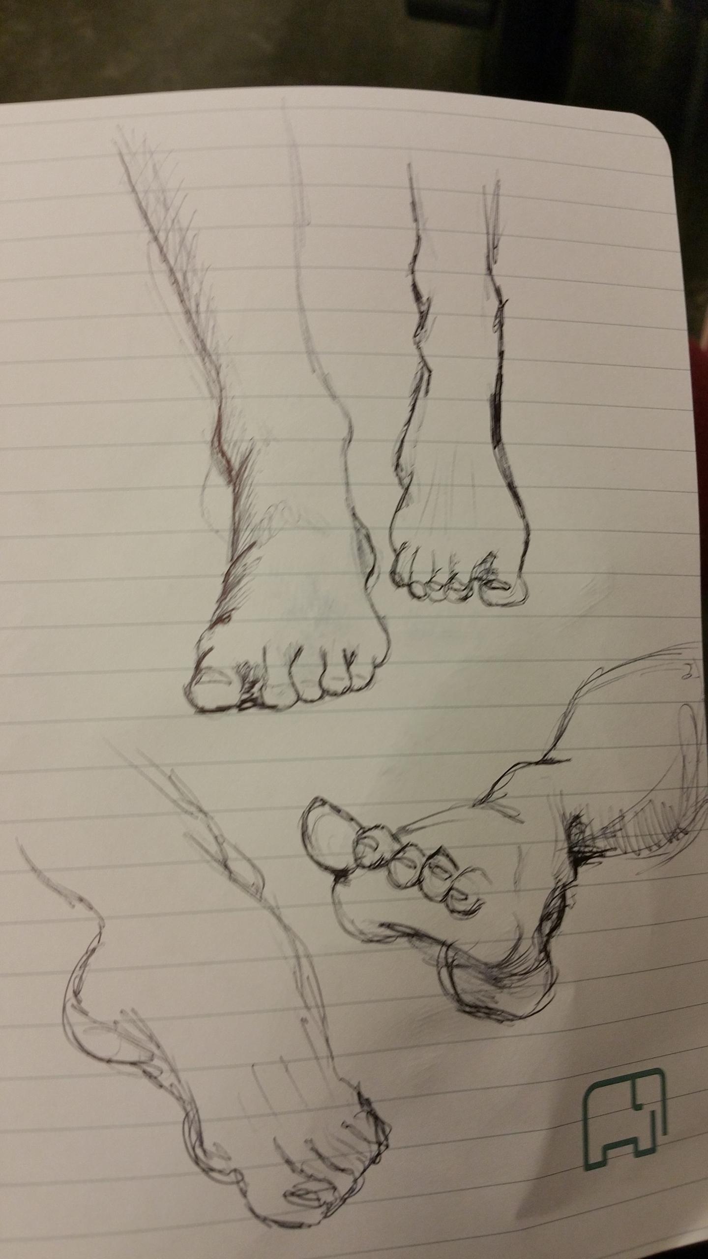 practice, feet - lienvliegmachien   ello