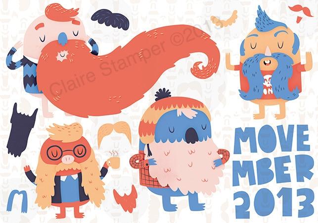 Movember 2013 - beard, moustache - clairestamper | ello