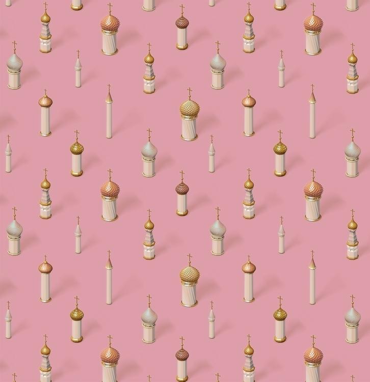 Dome Pattern - 3d, pattern, cinema4d - ruusulampi | ello