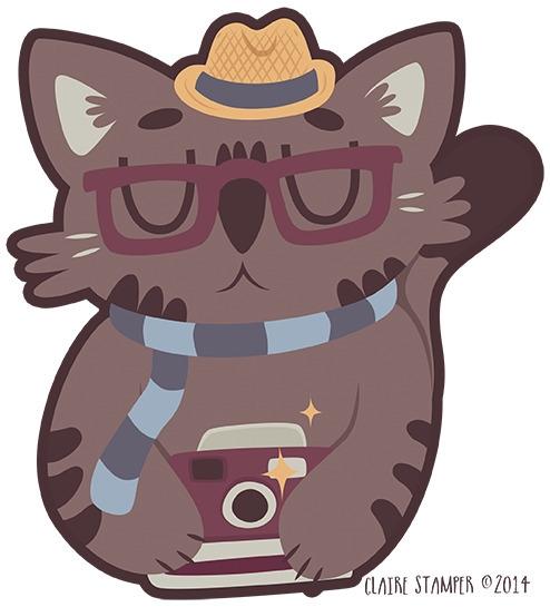 Hipster Cat - hipster, cat, fedora - clairestamper | ello
