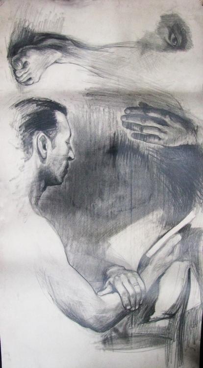 Details body, pencil - drawing, male - adidraw   ello