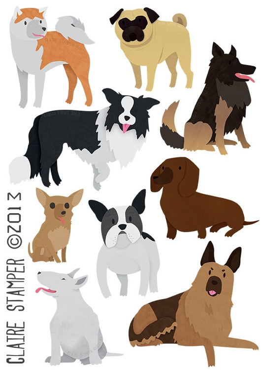 Dog Breeds 1 - dogs, breeds, animals - clairestamper | ello