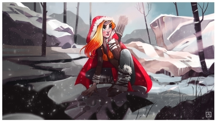 Red Ridding Hood - illustration - alinavial | ello