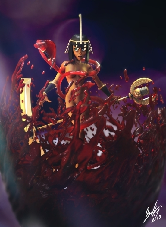 Final render Eliza Skullgirls - 3dcharacter - osukaanimation | ello