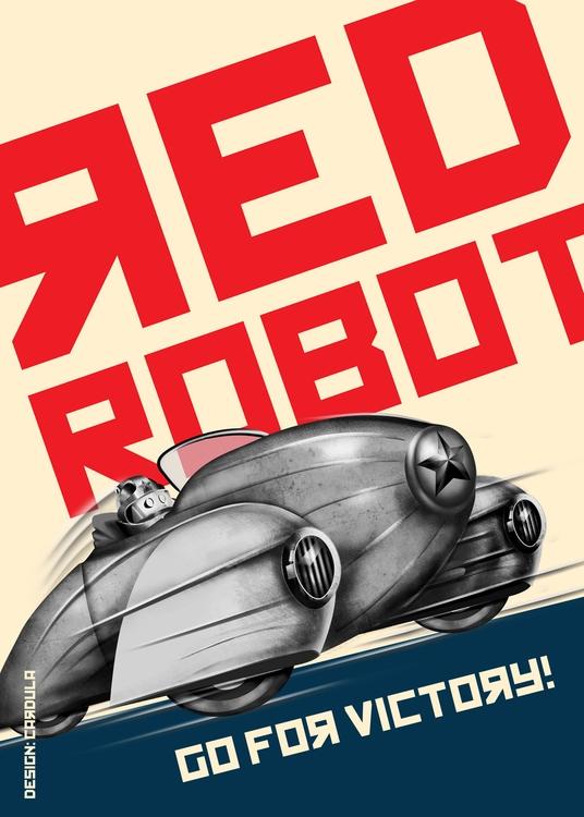 Retro future - red, retrospace, retrofuture - cardula | ello
