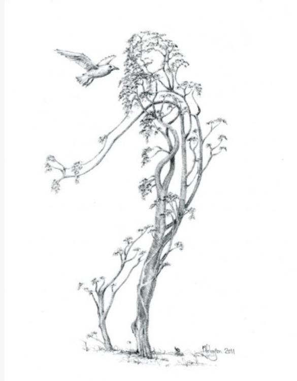Tree Dancer - markfineartwhimsydrawingpolarbearpenguin - markjohnson-2979 | ello