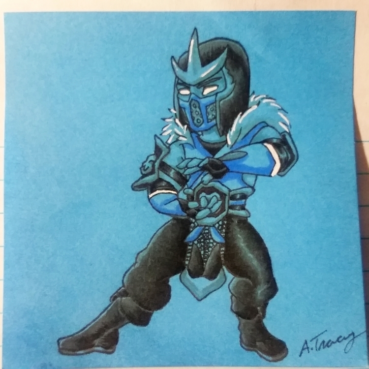 note drawing Subzero Mortal Kom - celestdeath | ello
