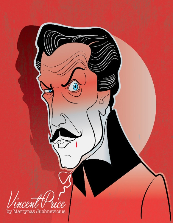 Vincent Price - illustration, horror - marts-1415 | ello