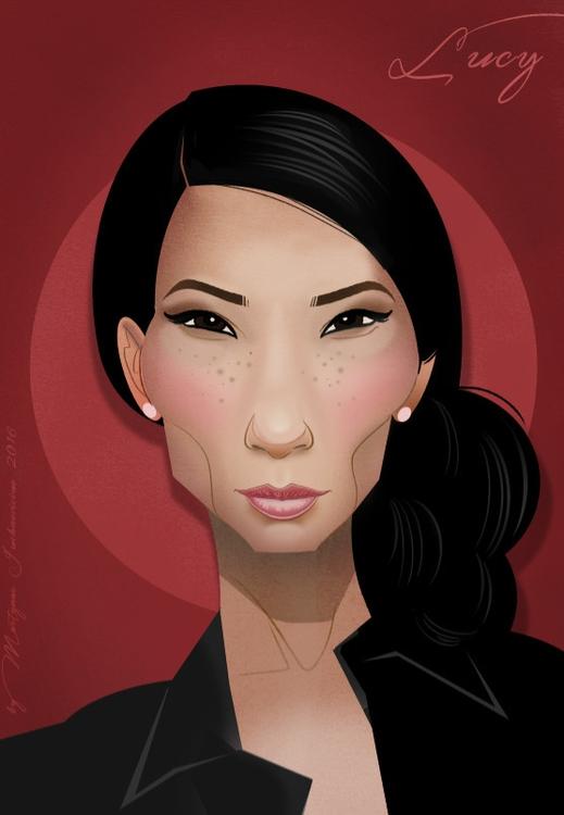 Lucy Liu - LucyLiu, illustration - marts-1415 | ello