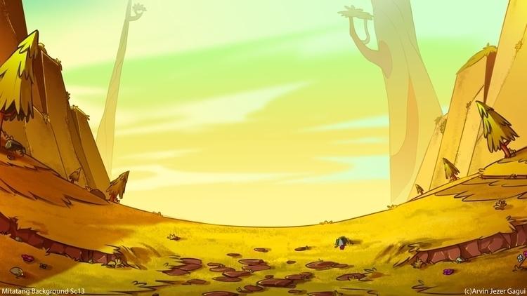 Meadow Background - drawing, design - arvinjezergagui | ello