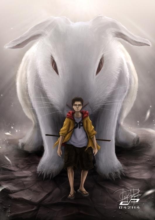 Rabbit - illustration, painting - pdp-3098 | ello