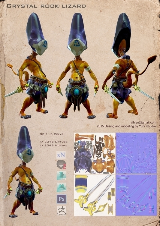 characterdesign, 3d - yuryhudov | ello