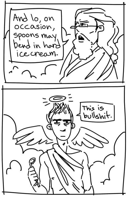 real reason Lucifer fell - comic - rachelpoulson | ello