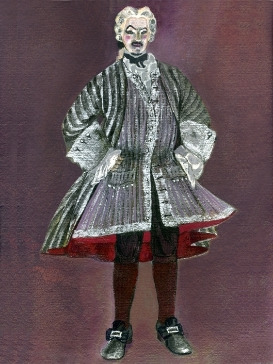 Costume Don Alfonso, tempera - costumedesign - adidraw | ello