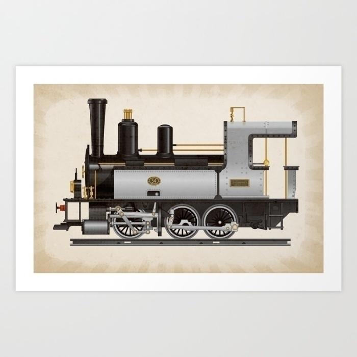Locomotive 54 - illustration, digitalart - marts-1415 | ello
