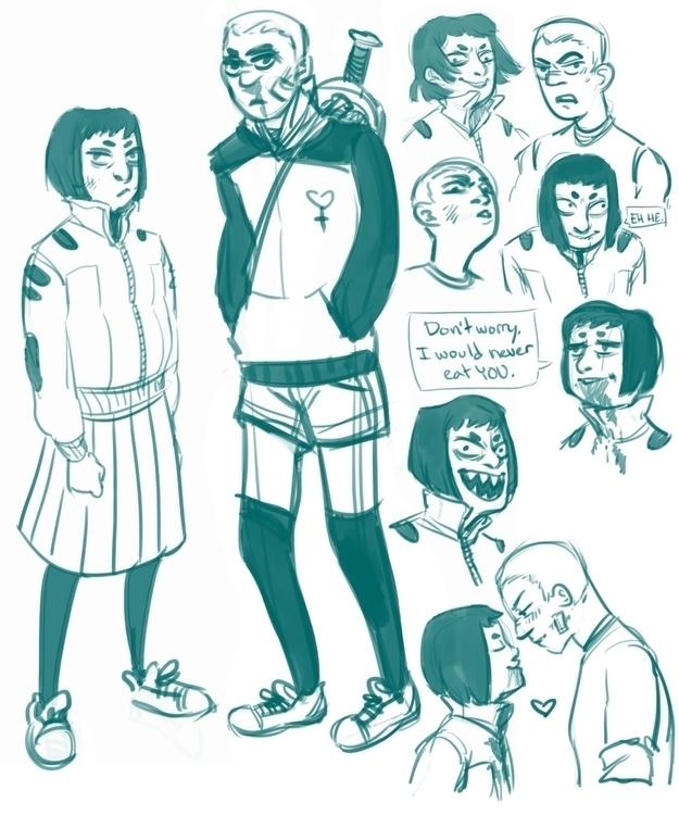 Character sketches comic called - rachelpoulson   ello