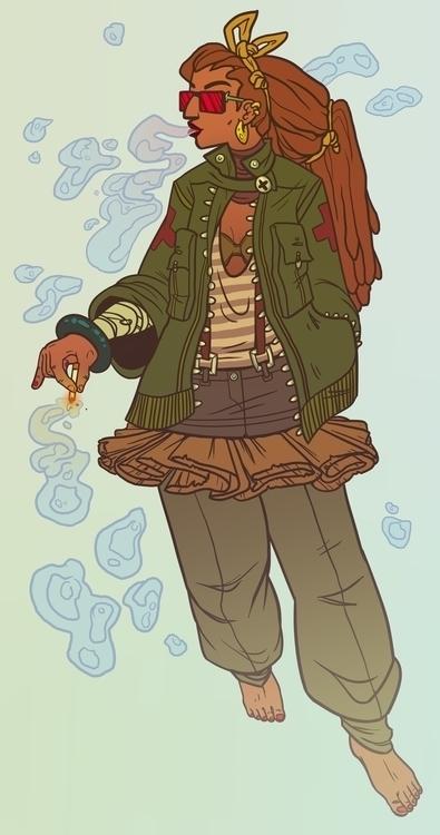 Dryad gangster - dryad, illustration - rachelpoulson | ello