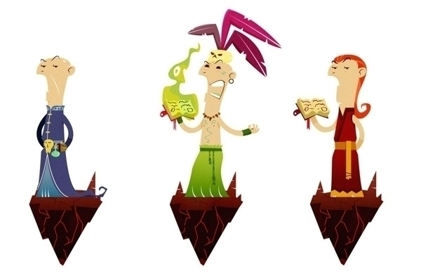 Shaman - characterdesign, shaman - jjneto | ello