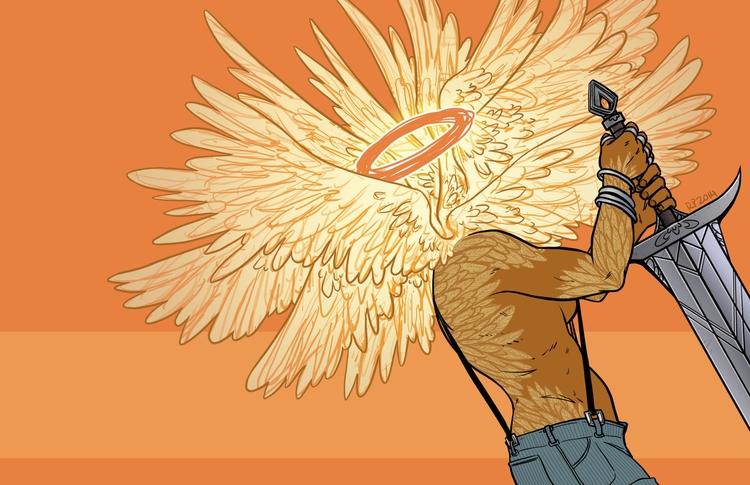 simple work portfolio - angel, wings - rachelpoulson | ello