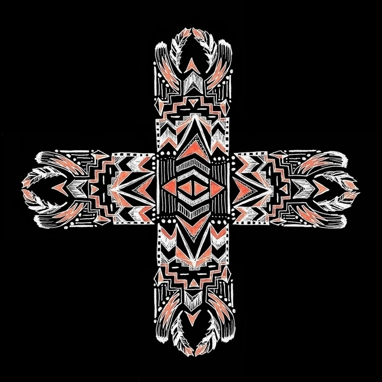 Tribal Cross black - illustration - tiki-1251 | ello