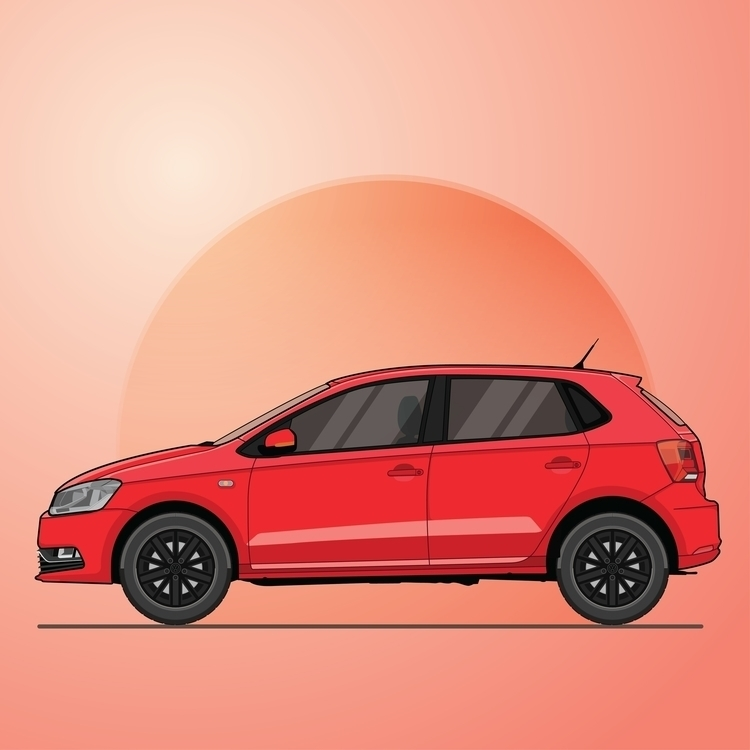 Volkswagen Polo - illustration, vector - rajchozhiath | ello